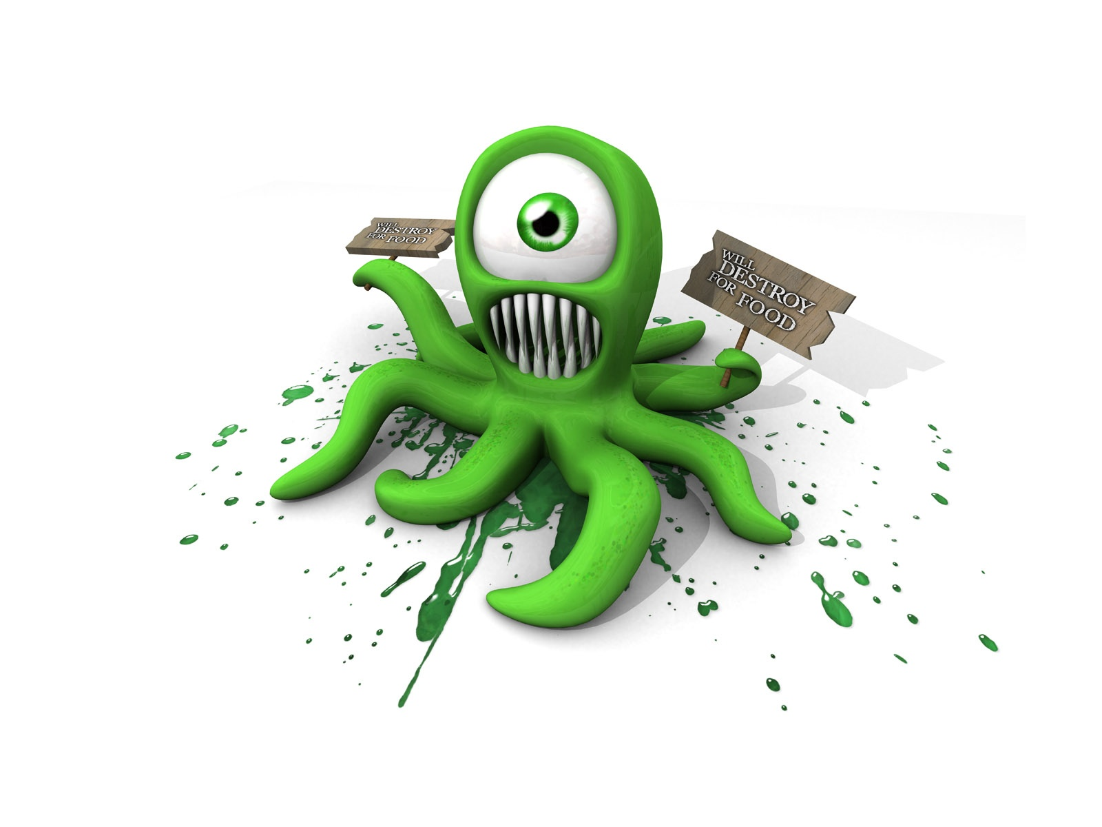 3d cartoon octopus | 1600 x 1200 | download | close