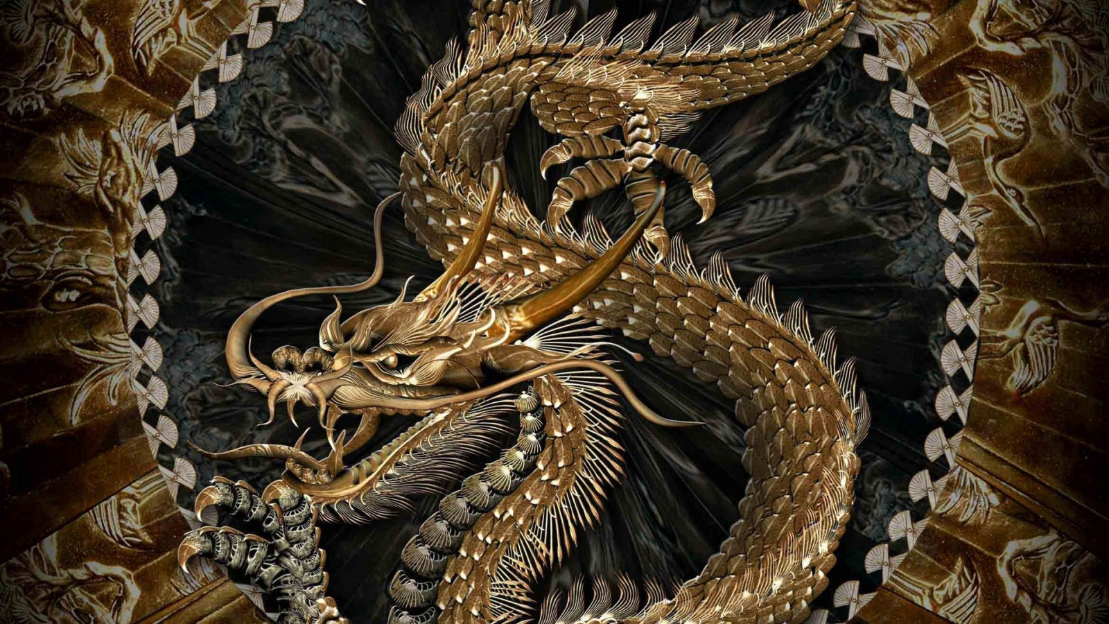 3D Chinese Dragon Wallpapers  1600x900 678087