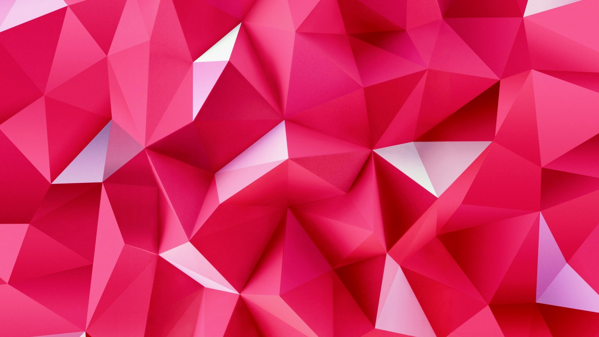 3D Pink Triangles Wallpapers