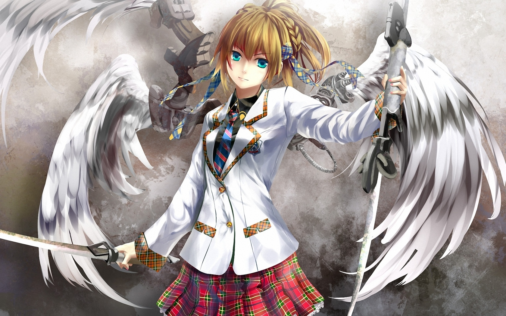 anime angel with sword wallpapers 1680x1050 699331
