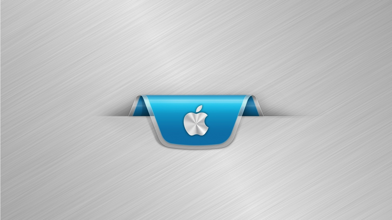 apple metal silver stripes wallpapers - 1366x768 - 275124