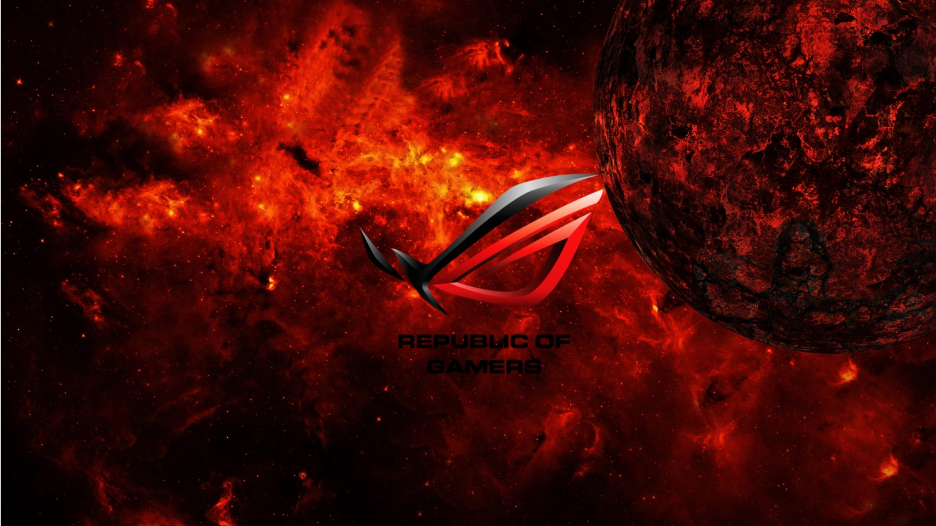 asus republic of gamers wallpapers - 1366x768 - 361962