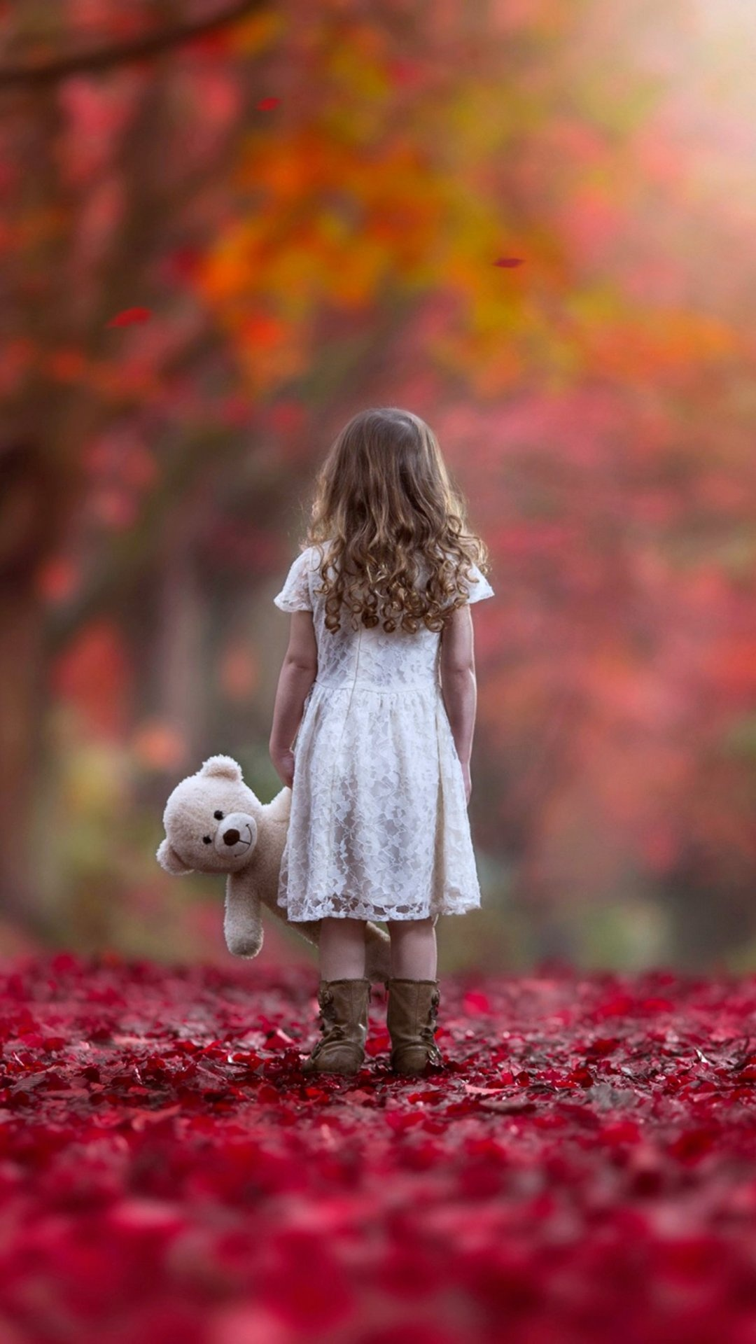 autumn sad lonely little girl wallpapers 1080x1920 328006
