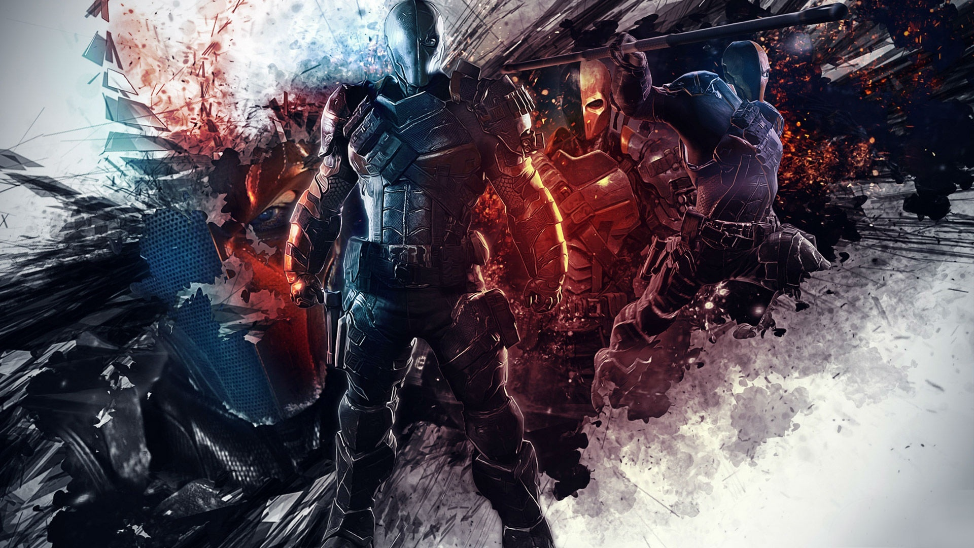 batman arkham origins deathstroke wallpapers 1920x1080
