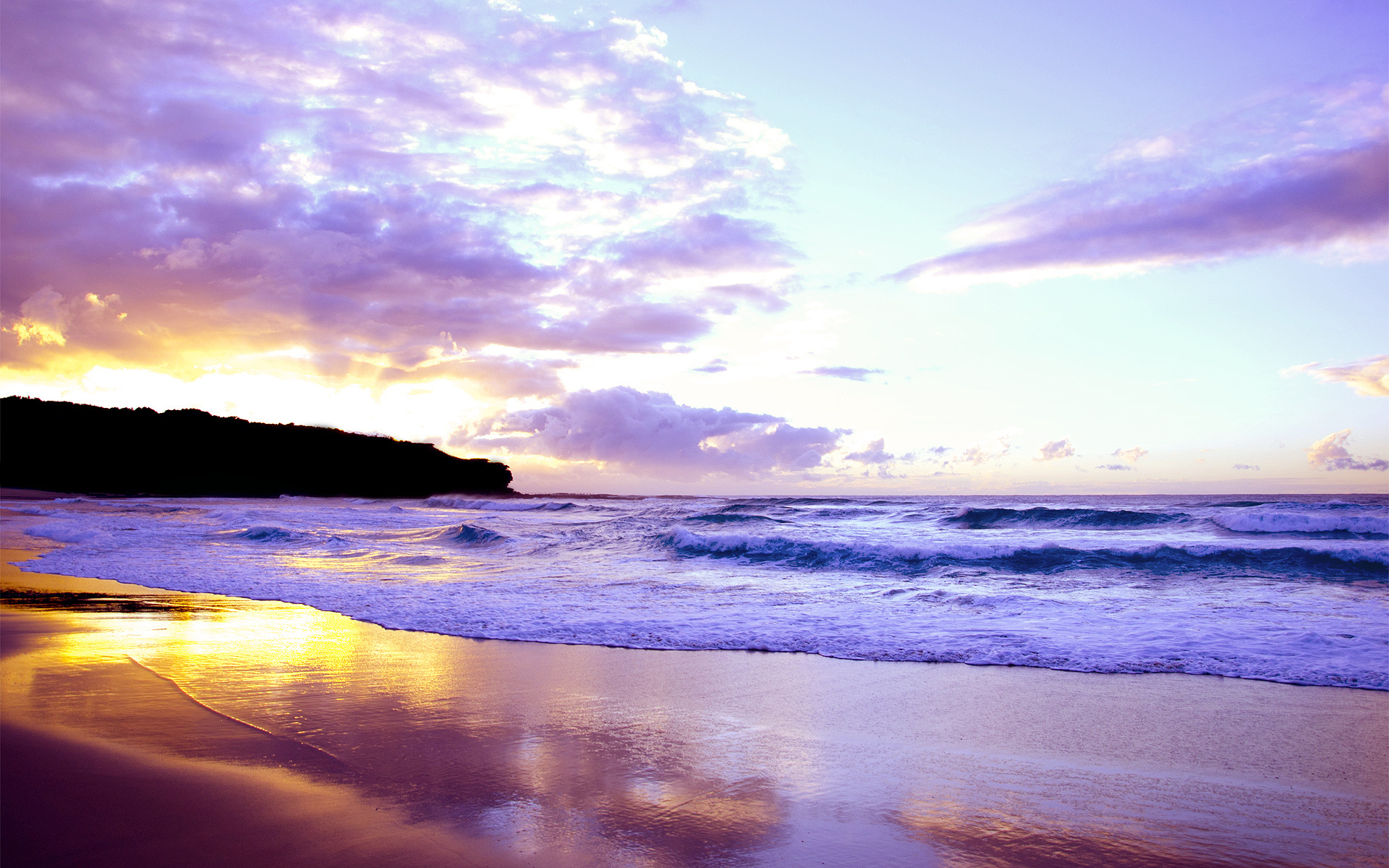 beautiful sunset beach photo - photo #12