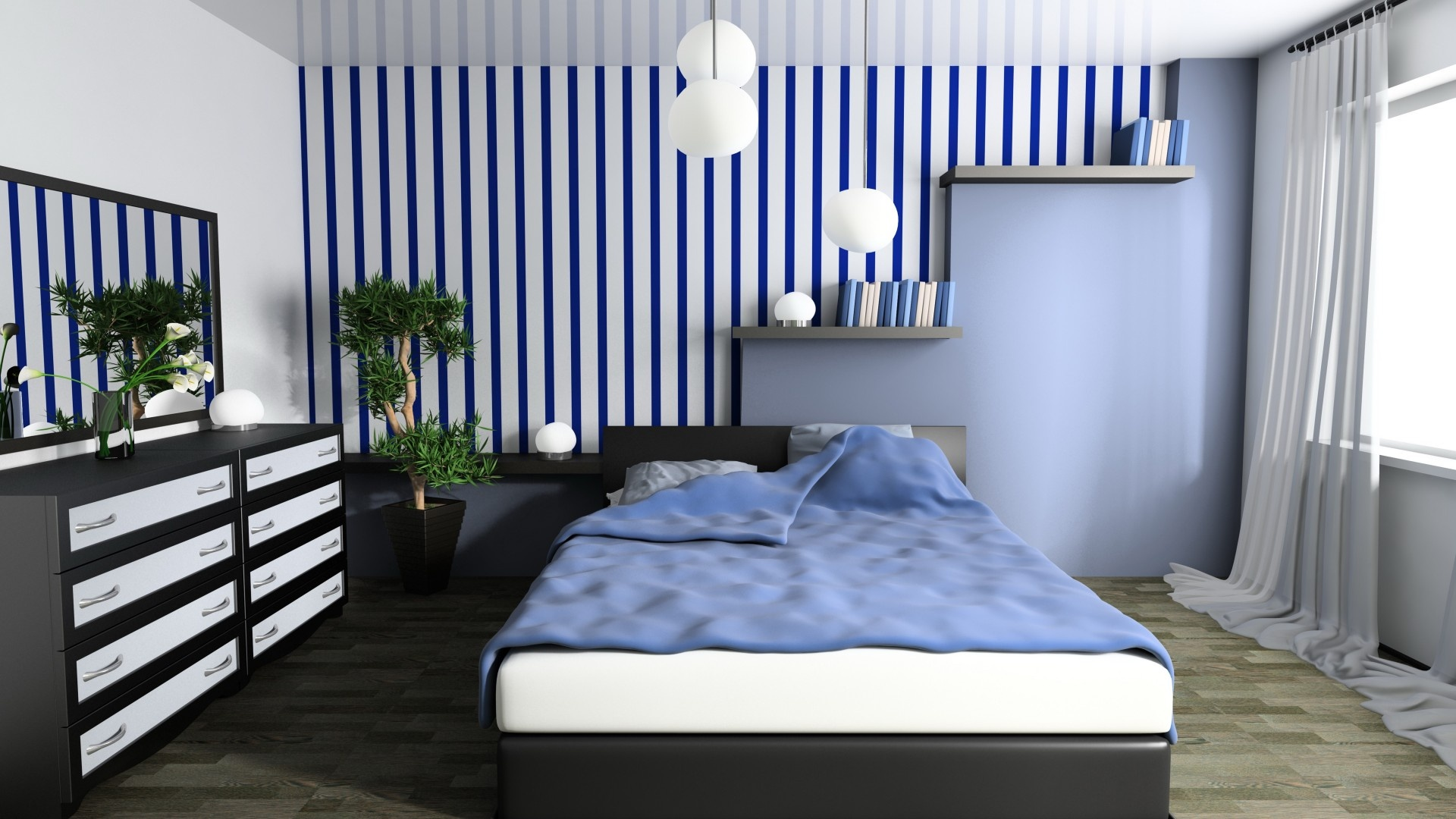 Fabulous Blue Bedroom Interior Design 1920 x 1080 · 440 kB · jpeg