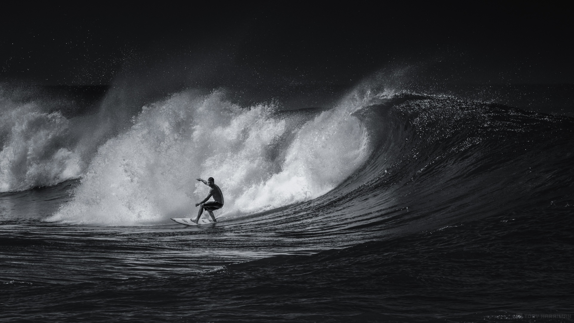 Black And White Surfing Sports Wallpapers