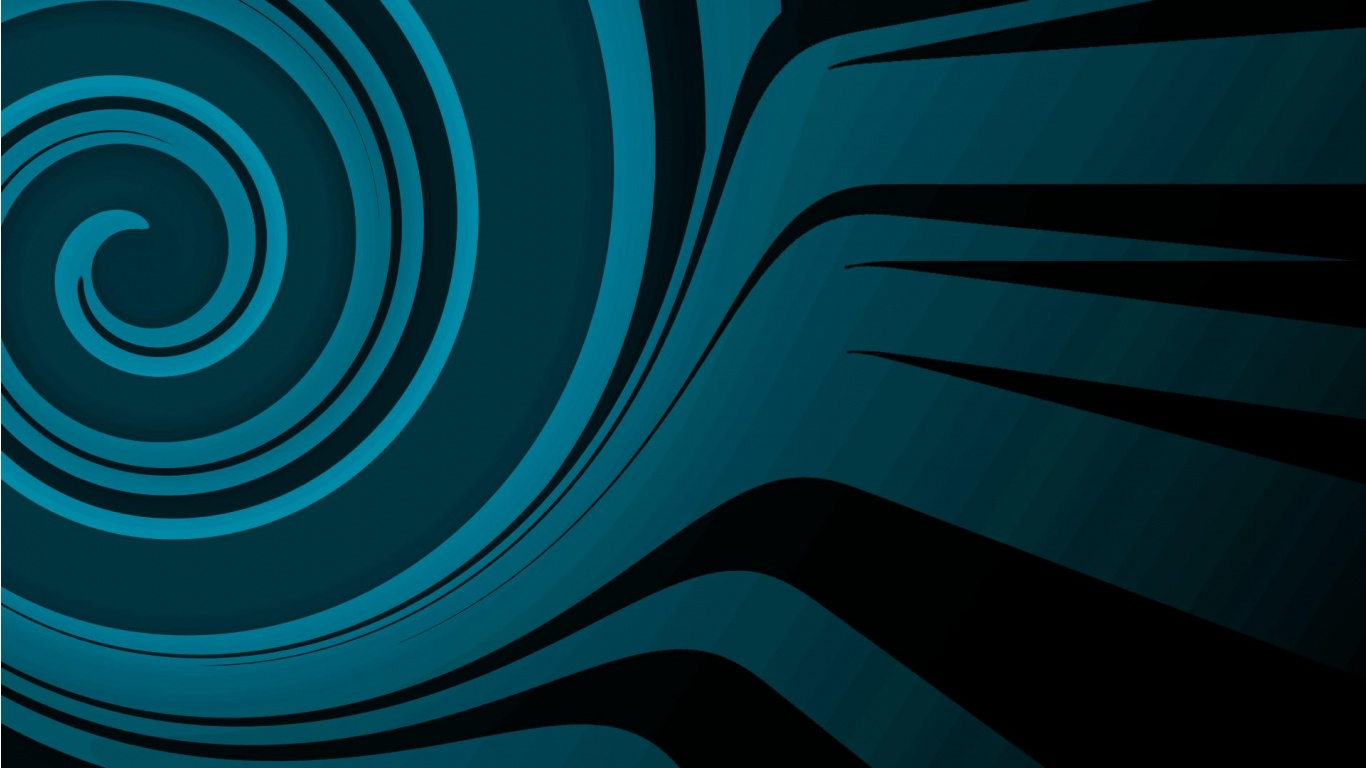 Blue And Black Abstract Wallpapers 1366x768 169772