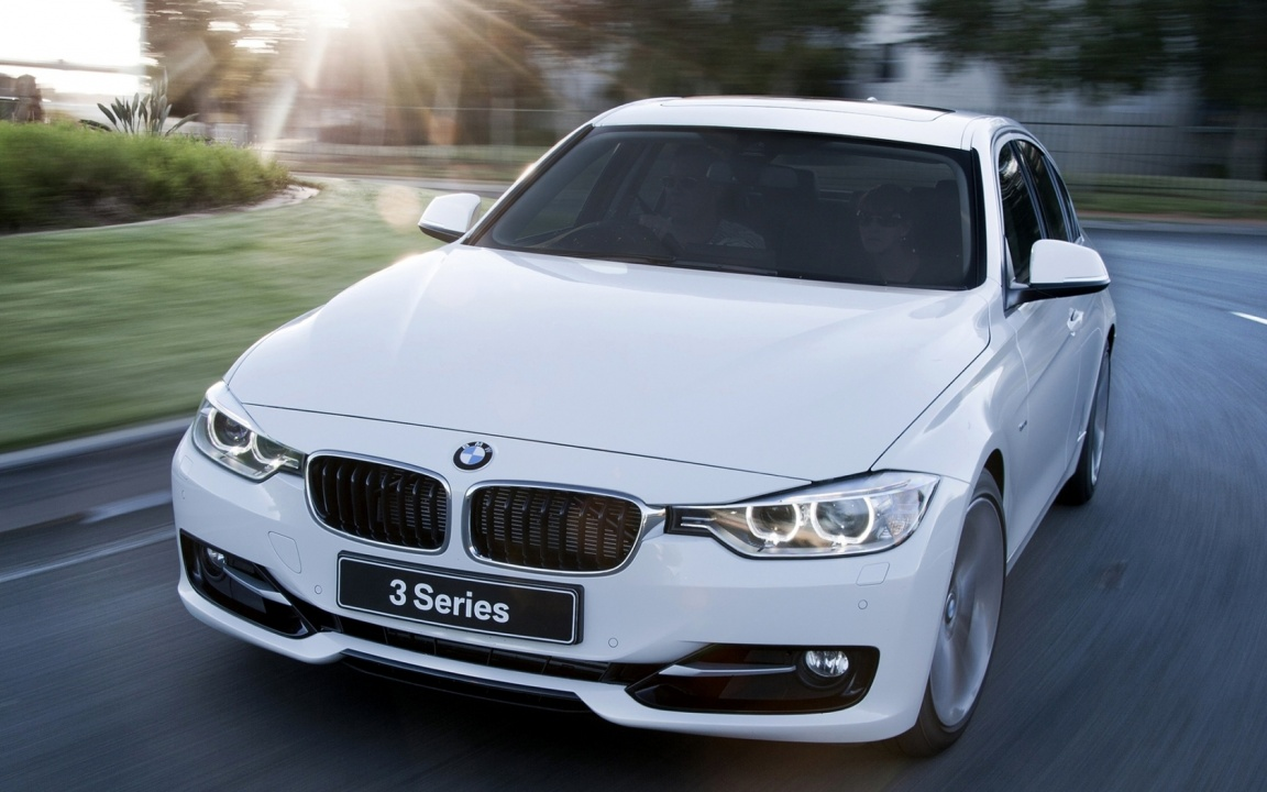 BMW 3 Series White Car