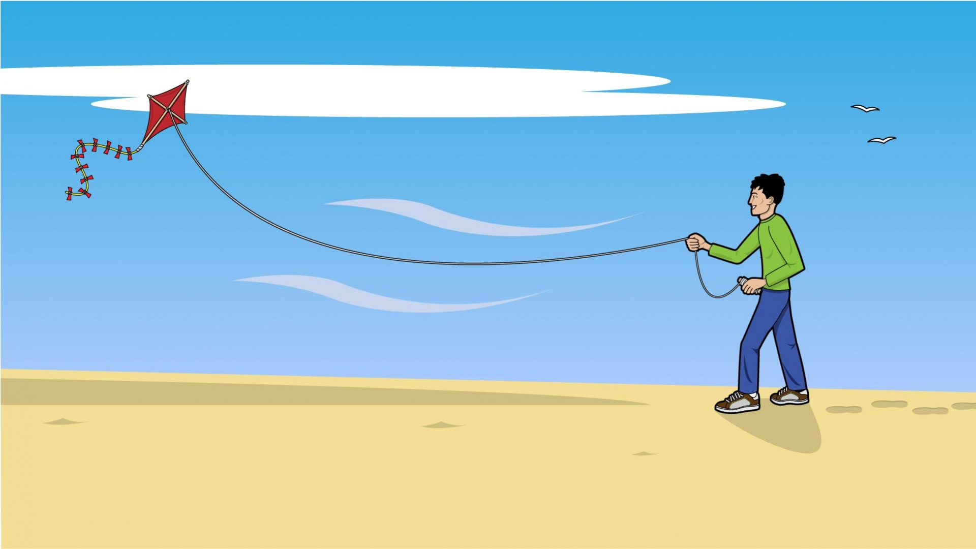 wallpaper kite cartoon - photo #37