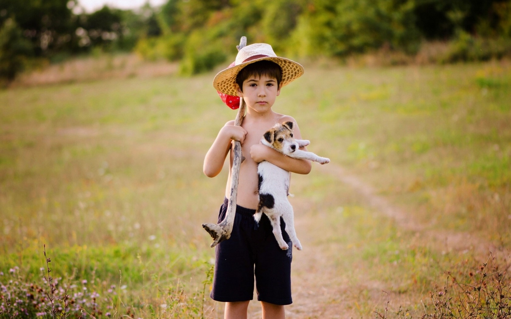 Boy Puppy Dog Wallpapers