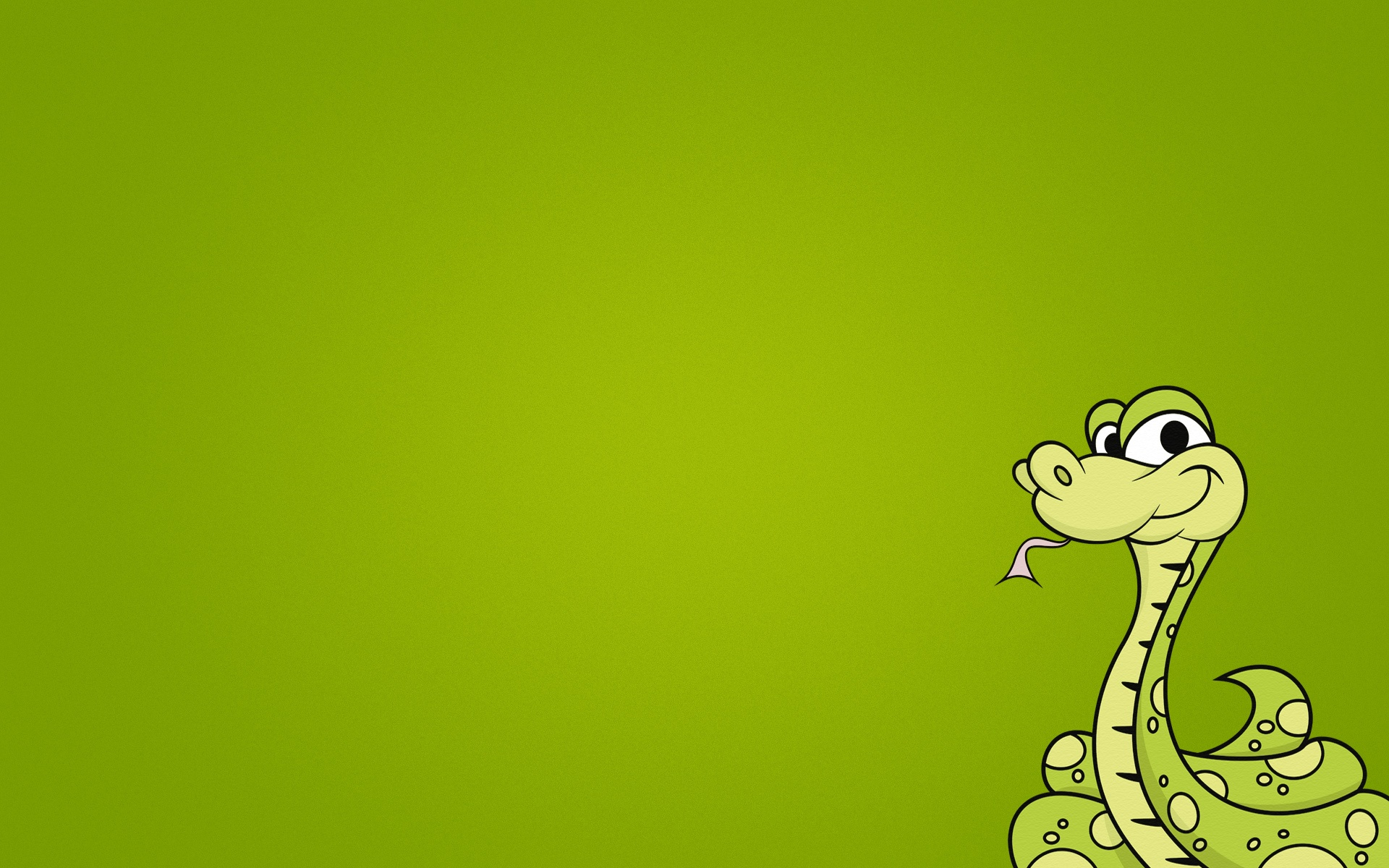 Cartoon green snake | 1920 x 1200 | download | close