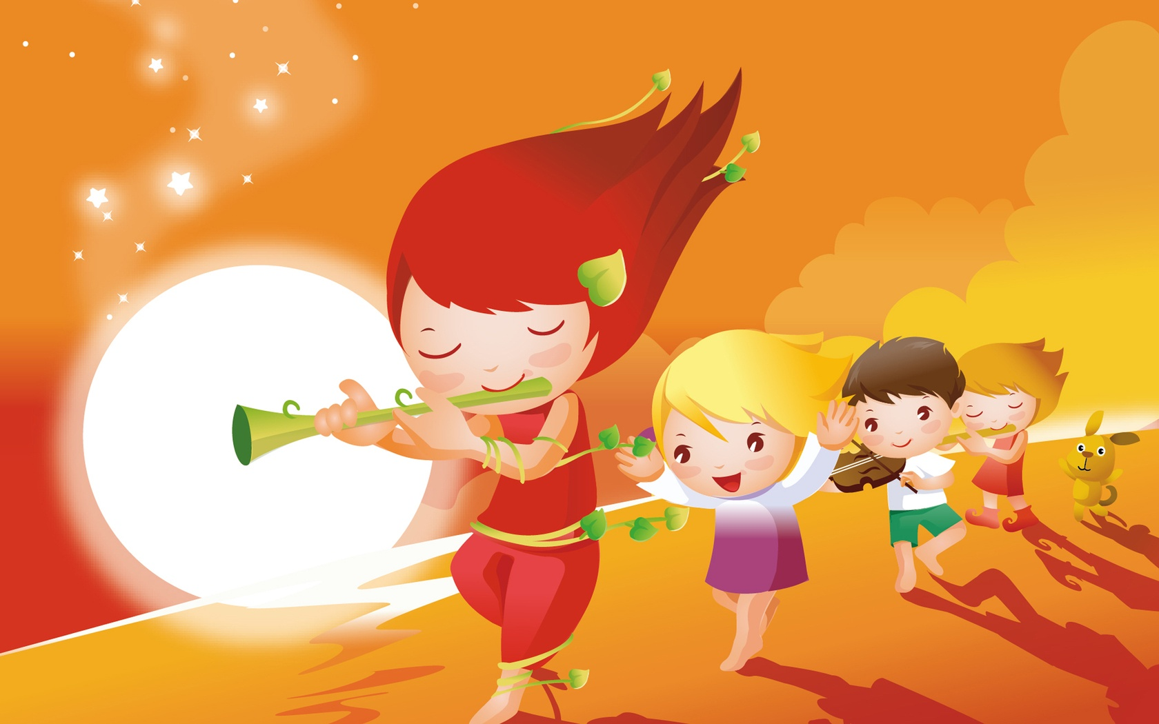 Cartoon kids music 1680 x 1050 download close