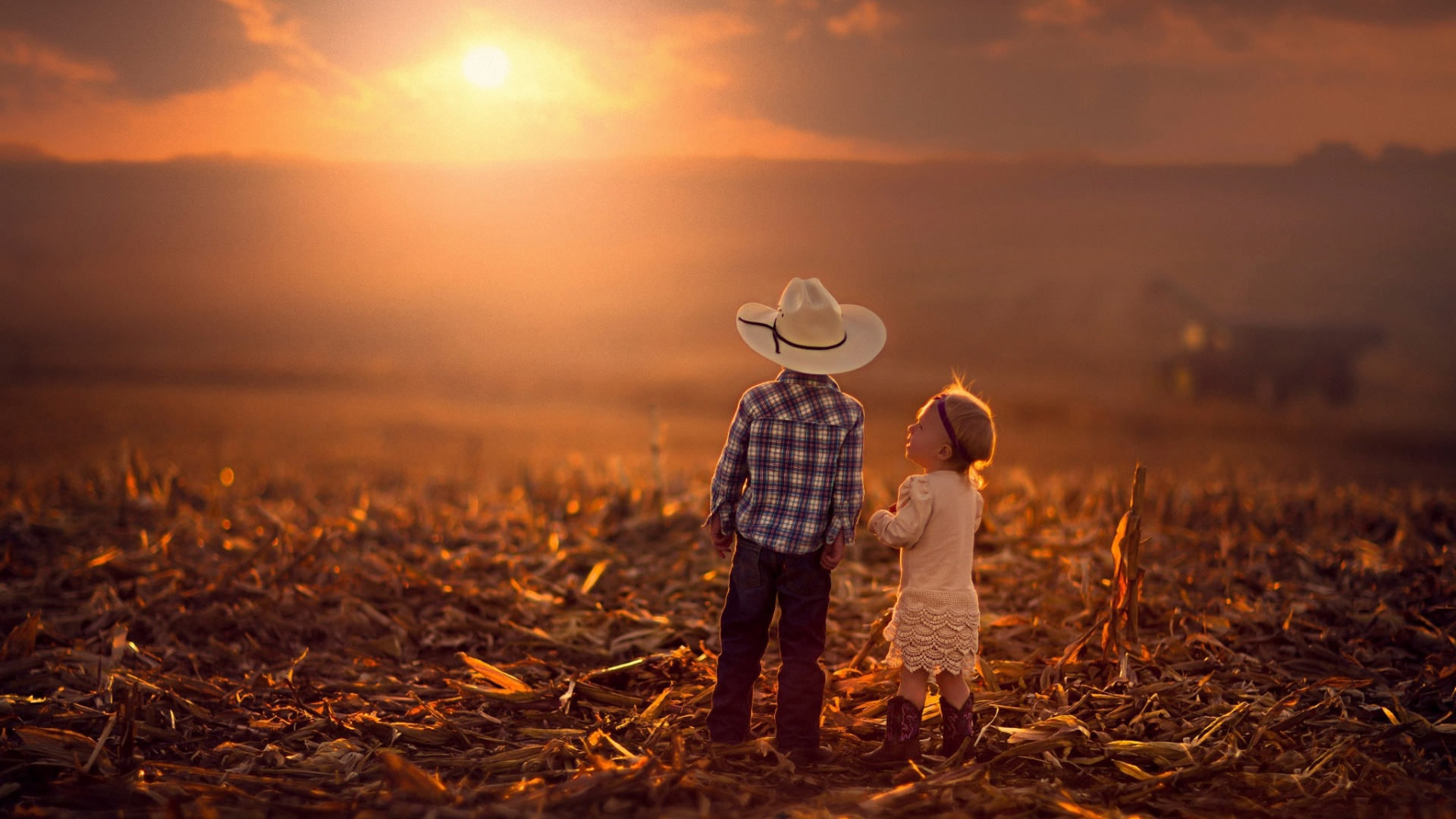 Love child Wallpaper Hd : children Boy And Girl Sunset Wallpapers - 1920x1080 - 584701