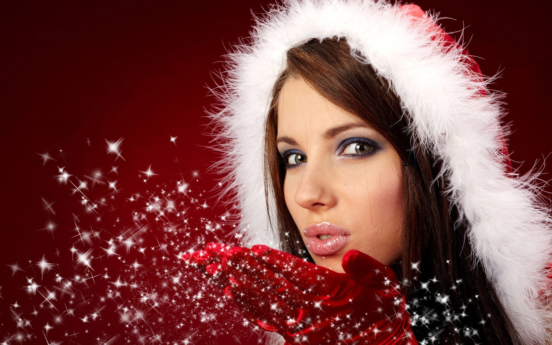 Christmas snow girl 1920 x 1200 download close