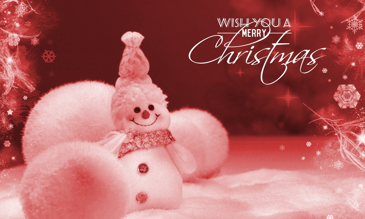 Christmas Snowman With Hat   1280 x 768   Download   Close
