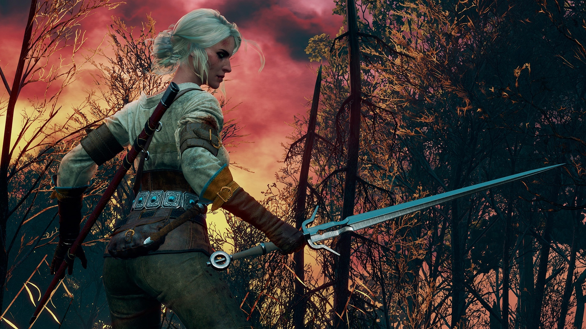 Ciri The Witcher 3 Game Wallpapers 1920x1080 1167958