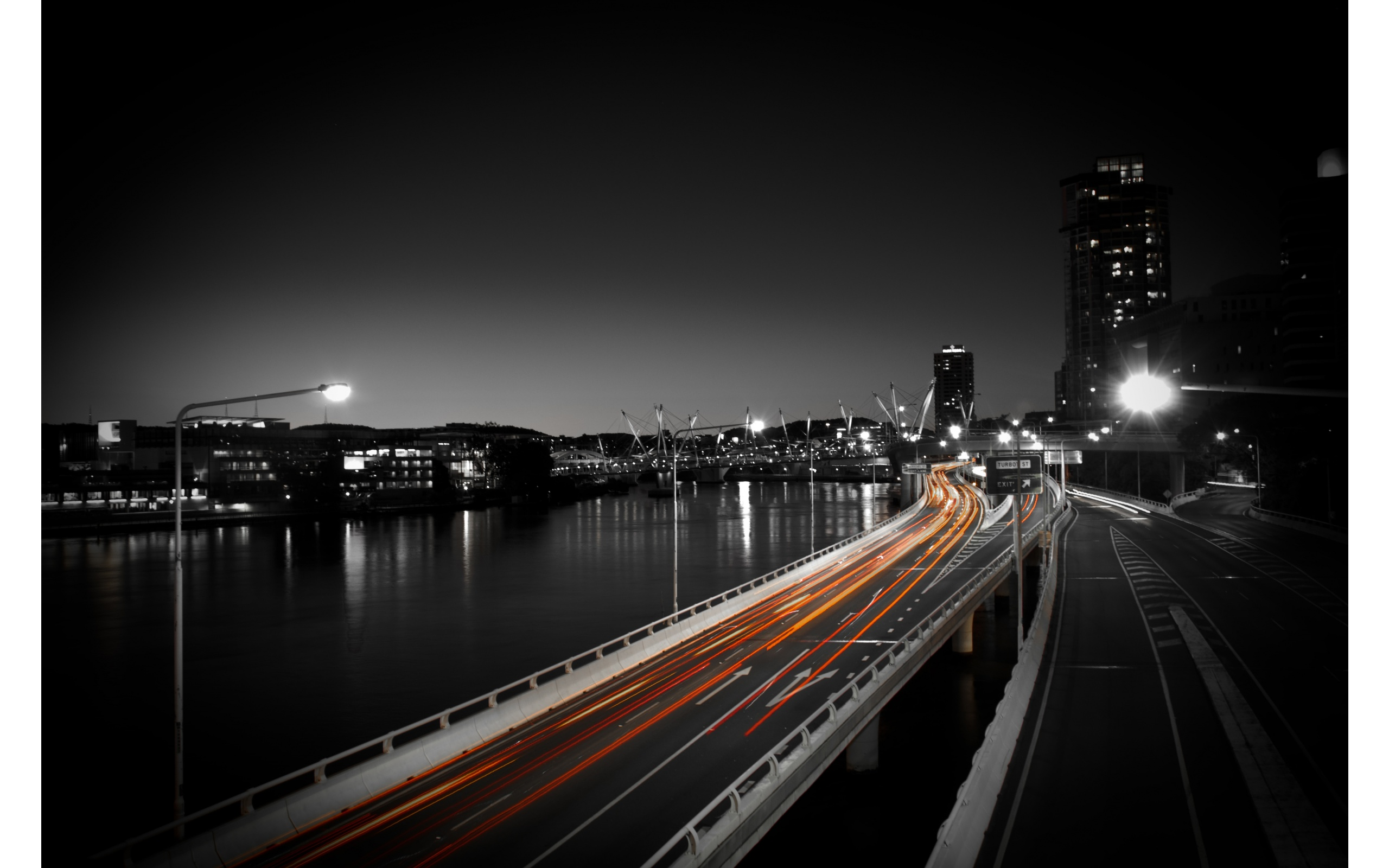 City Dark Night And Light Road | 2560 x 1600 | Download | Close