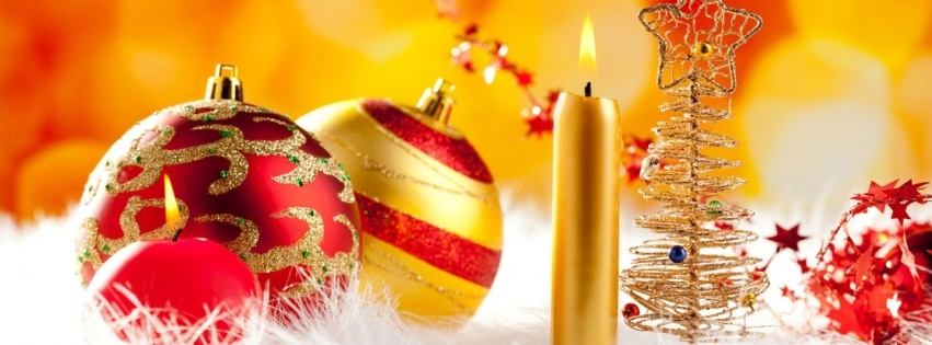 Colorful Christmas Decorations Wallpapers 851x315 108638