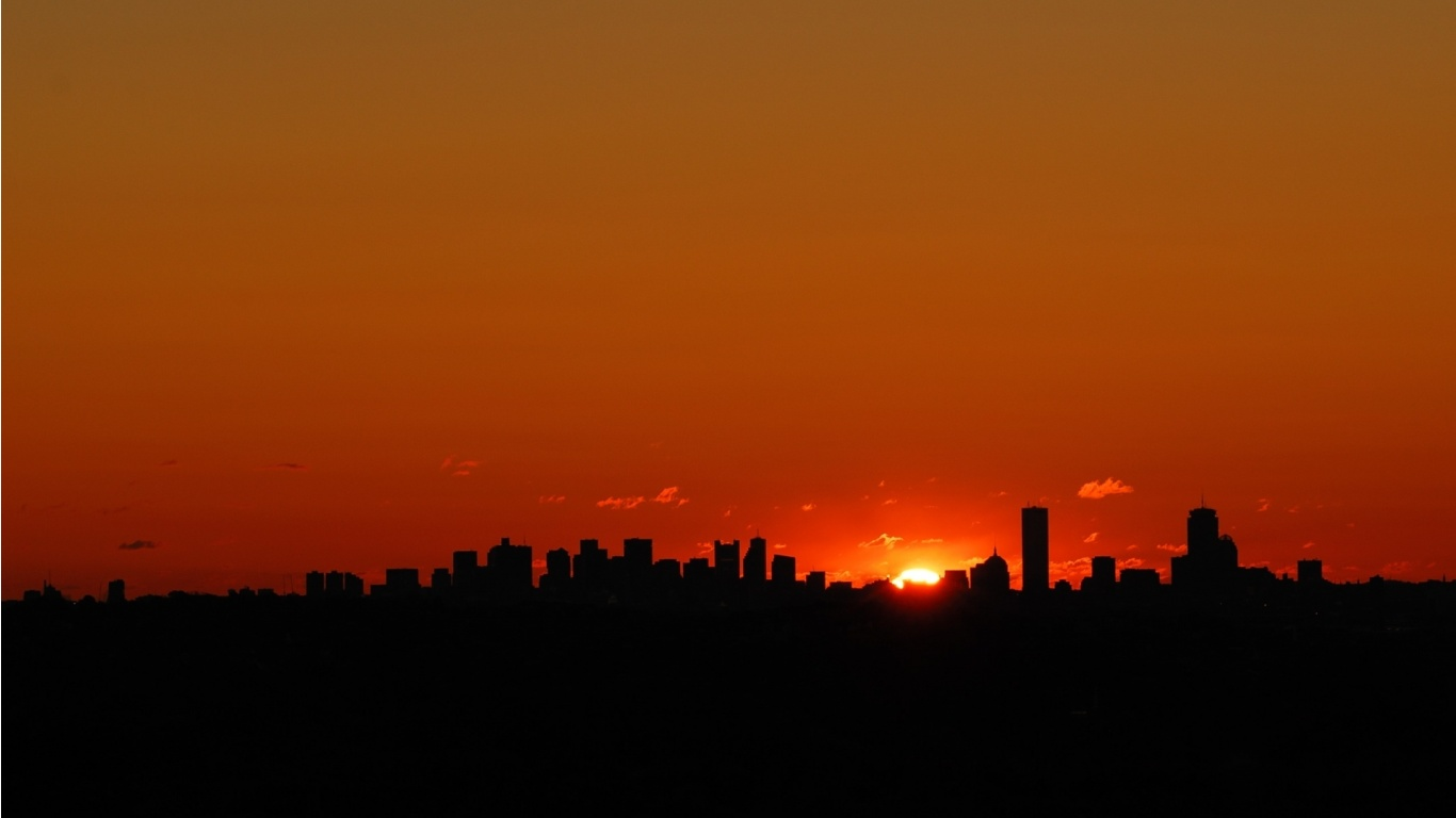 Dallas City Sunset Wallpapers 1366x768 118503