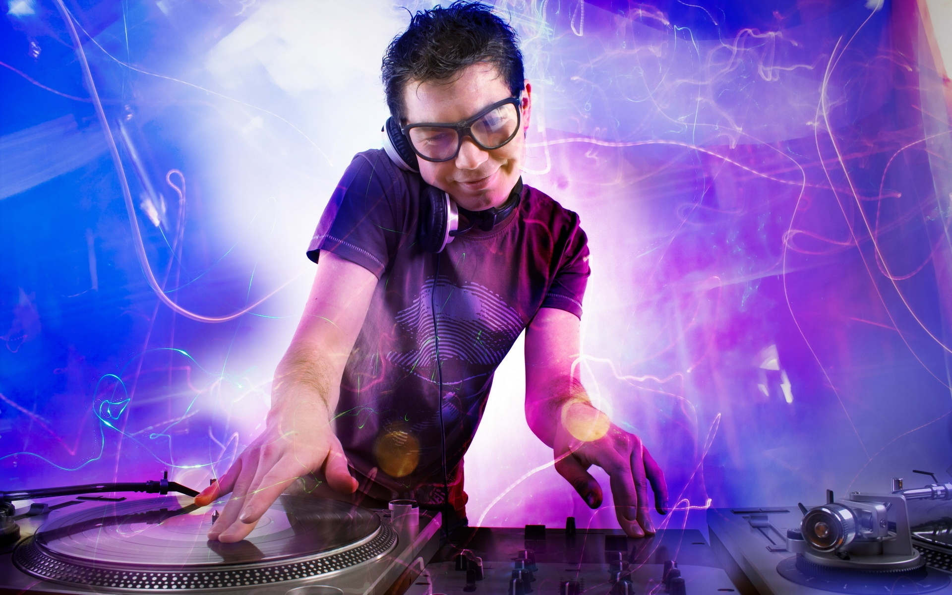 Dj Playing In Disco House