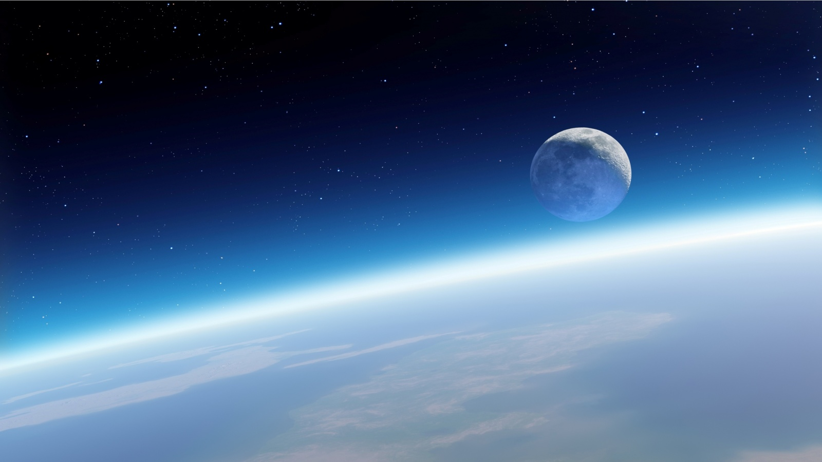 Earth And Moon From Space Wallpapers 1600x900 193022