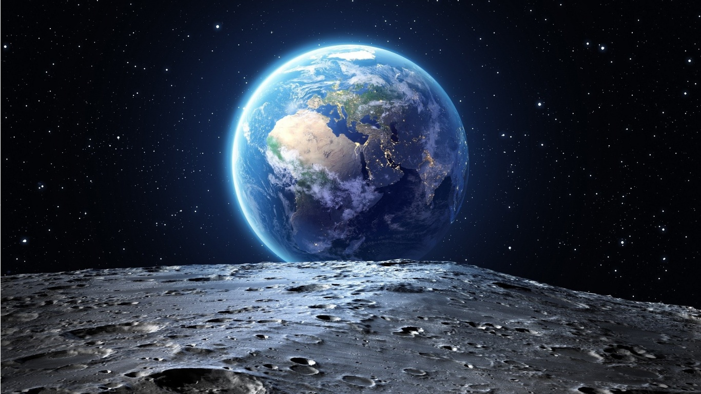 Earth Space Planet Wallpapers - 1366x768 - 387617