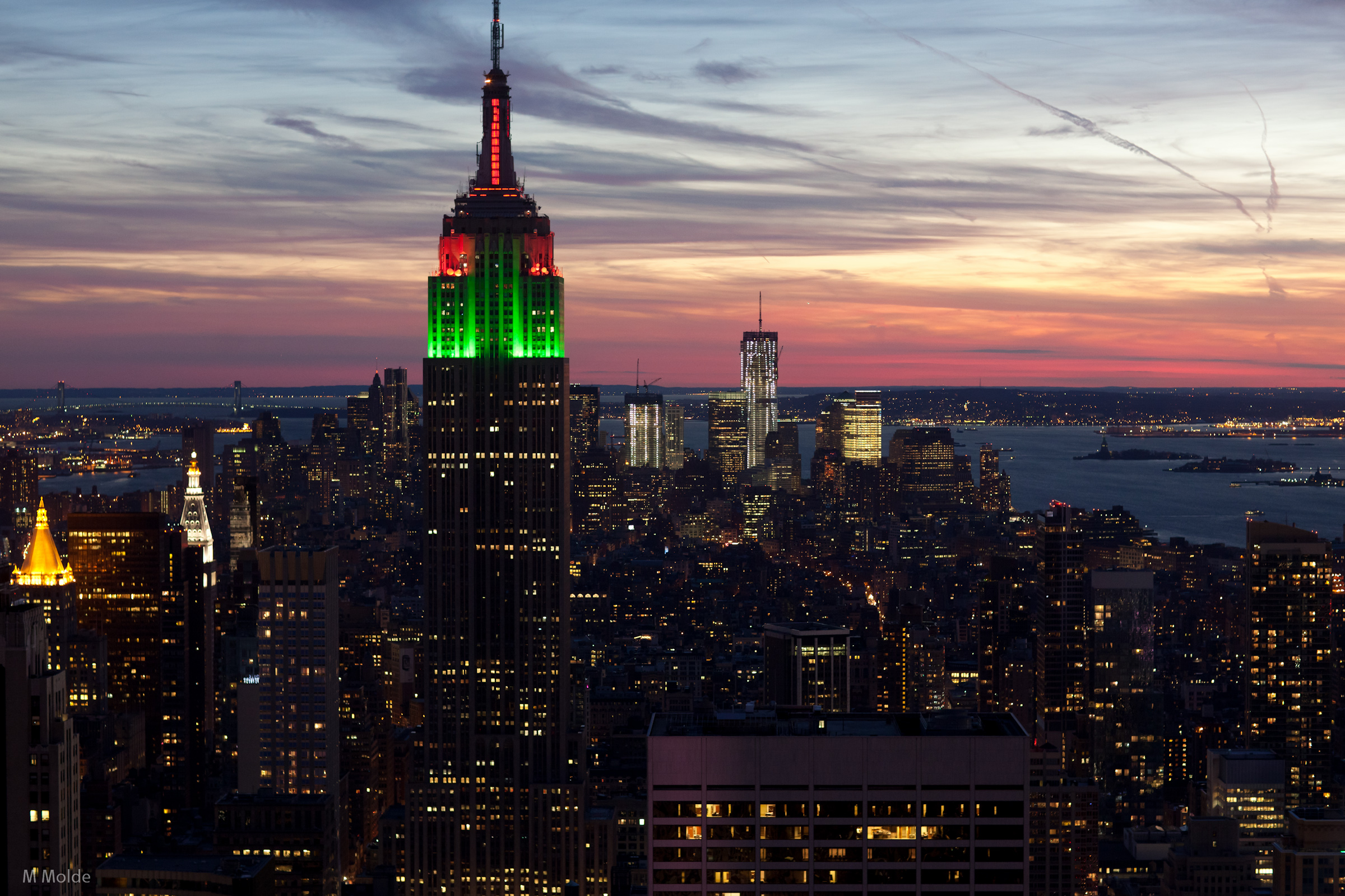 empire state building sunset - photo #35