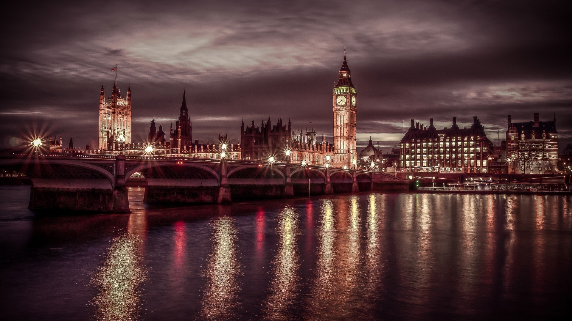 England Night Lights Wallpapers - 1920x1080 - 714255