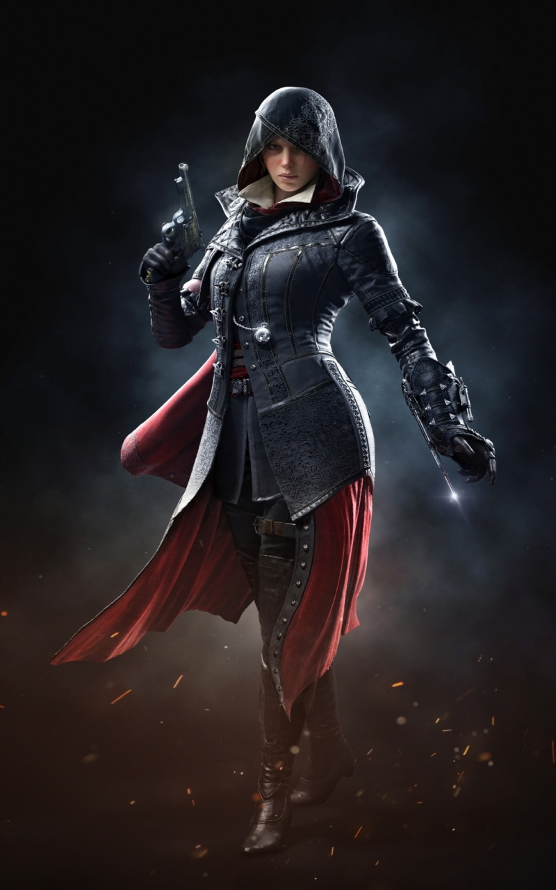 Evie frye black assassins creed syndicate wallpapers 800x1280 evie frye black assassins creed syndicate voltagebd Gallery