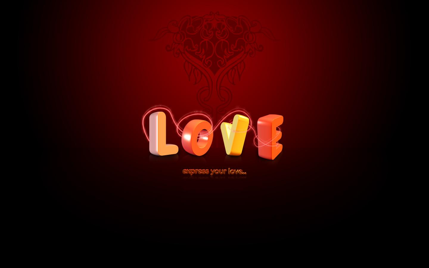 Love Expressing Wallpapers : Express Your Love Wallpapers - 1440x900 - 52467
