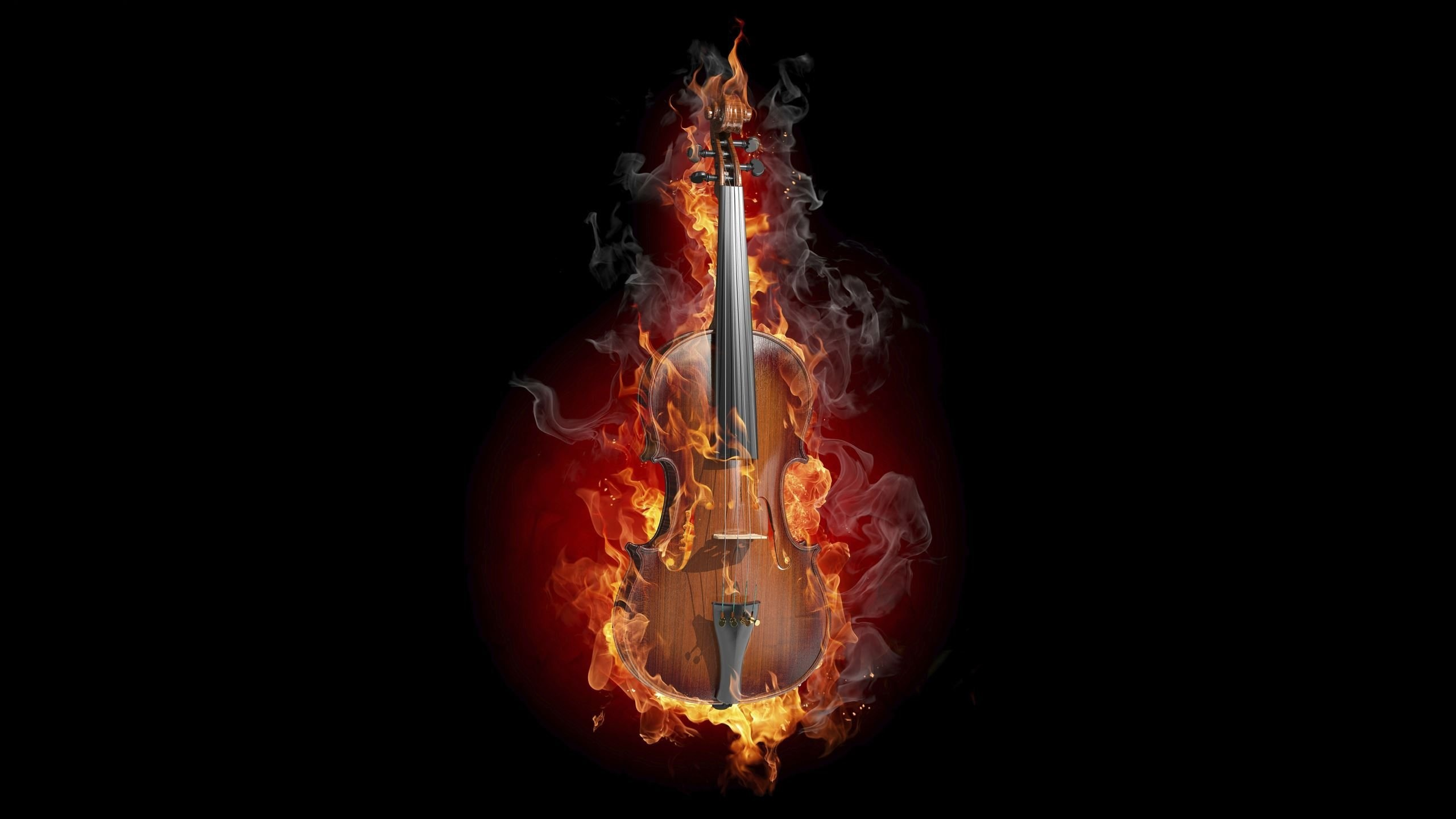 fire violin wallpapers 2560x1440 253438