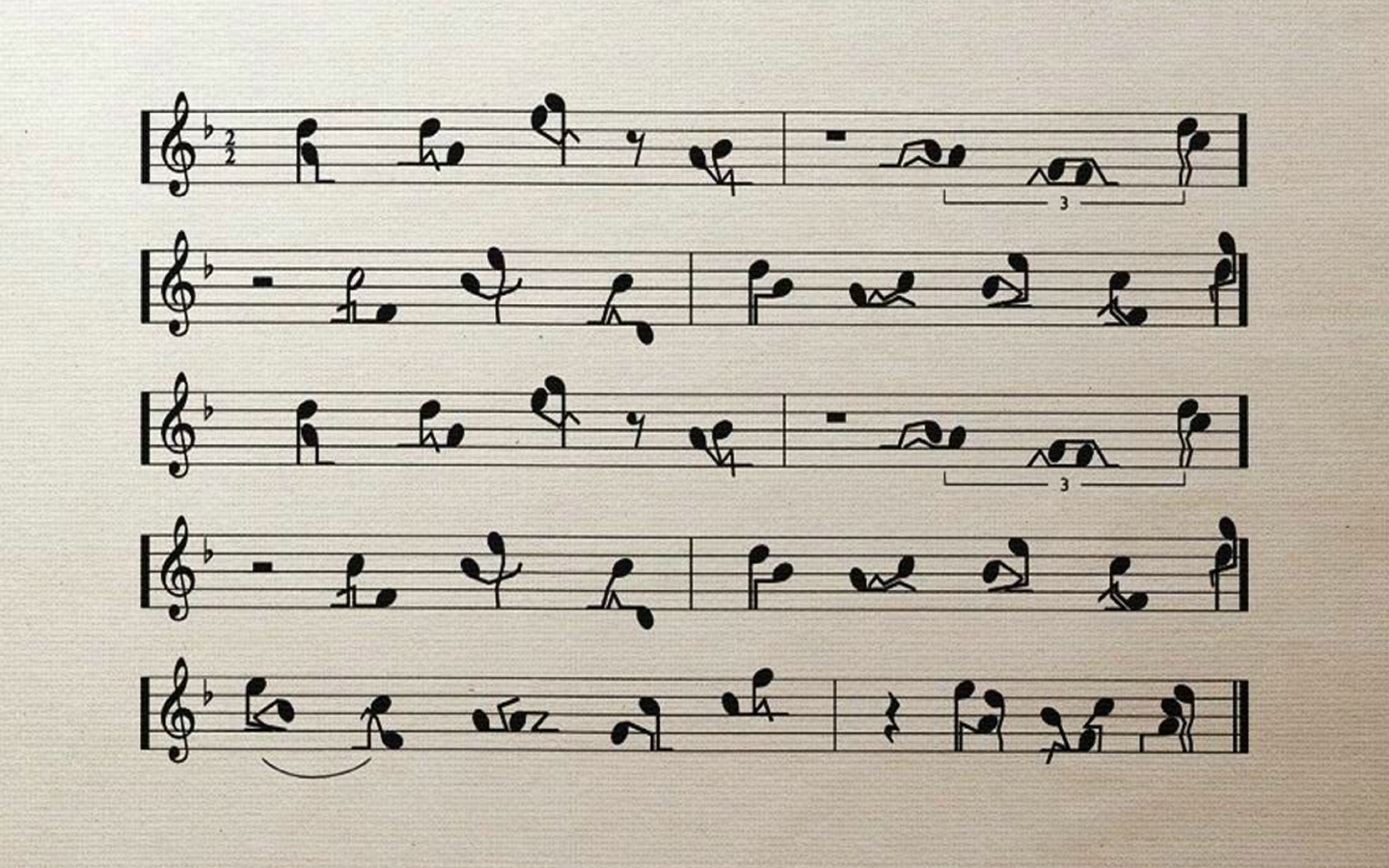 Funny Music Notes | 2560 x 1600 | Download | Close