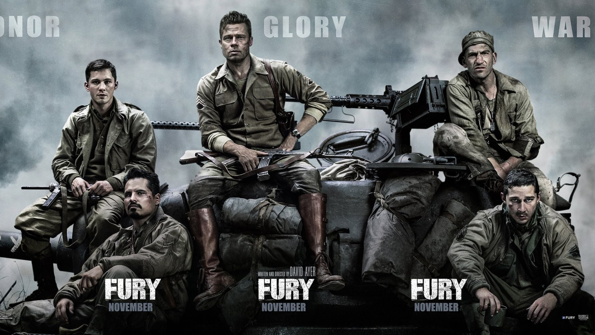 Fury Movie Poster Wallpapers