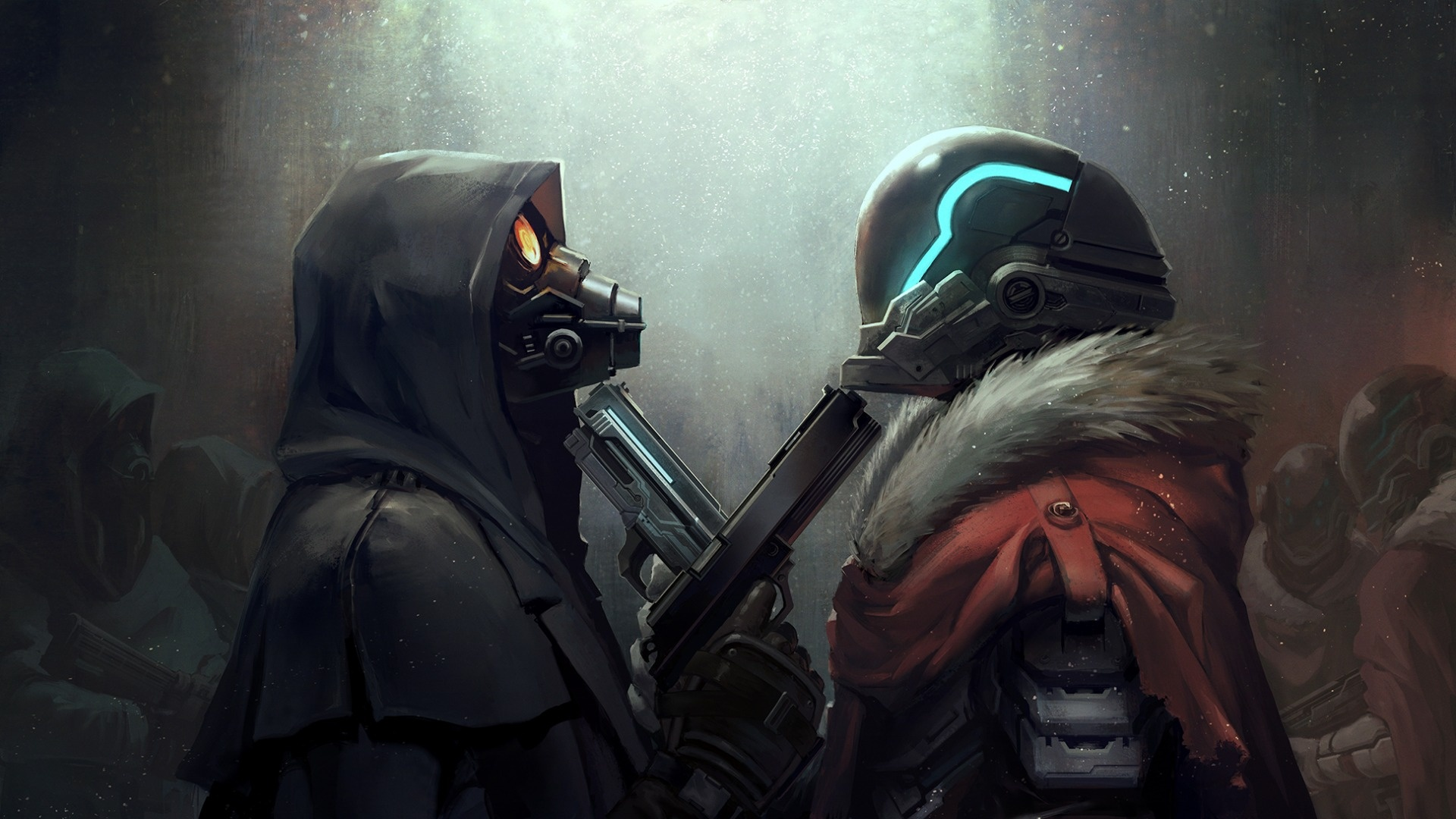Gas Mask Soldiers Gun Wallpapers 1920x1080 485636
