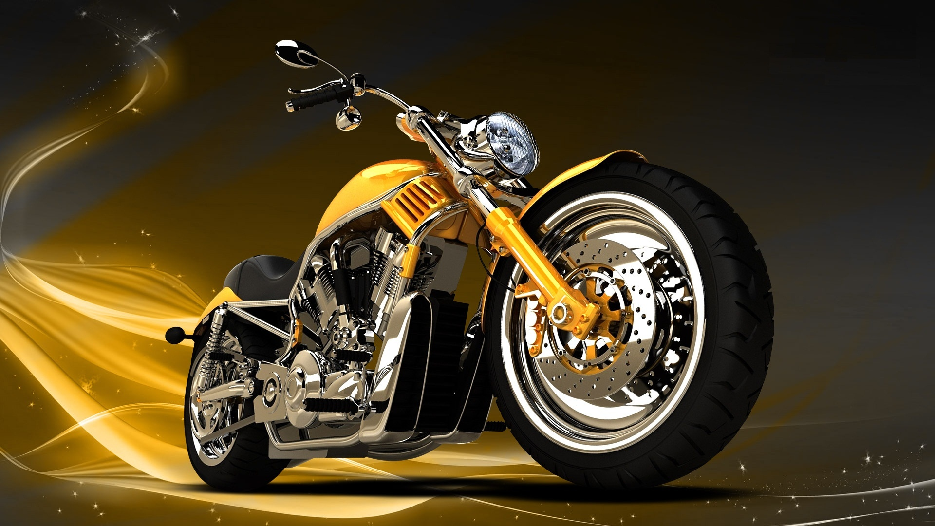 Golden Chopper Bikes Wallpapers - 1920x1080 - 486092