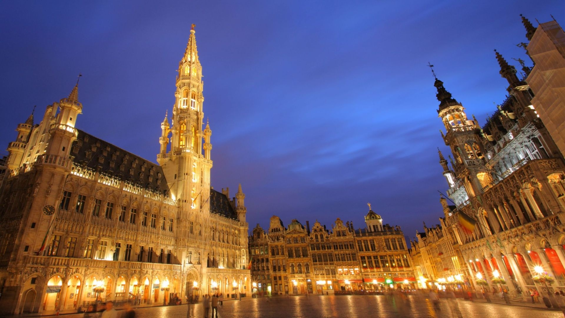 Grand place brussels wallpapers 1920x1080 481735 for Brussels piscine