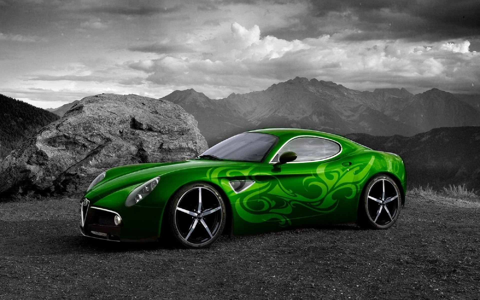 wallpaper green ferrari cars - photo #7