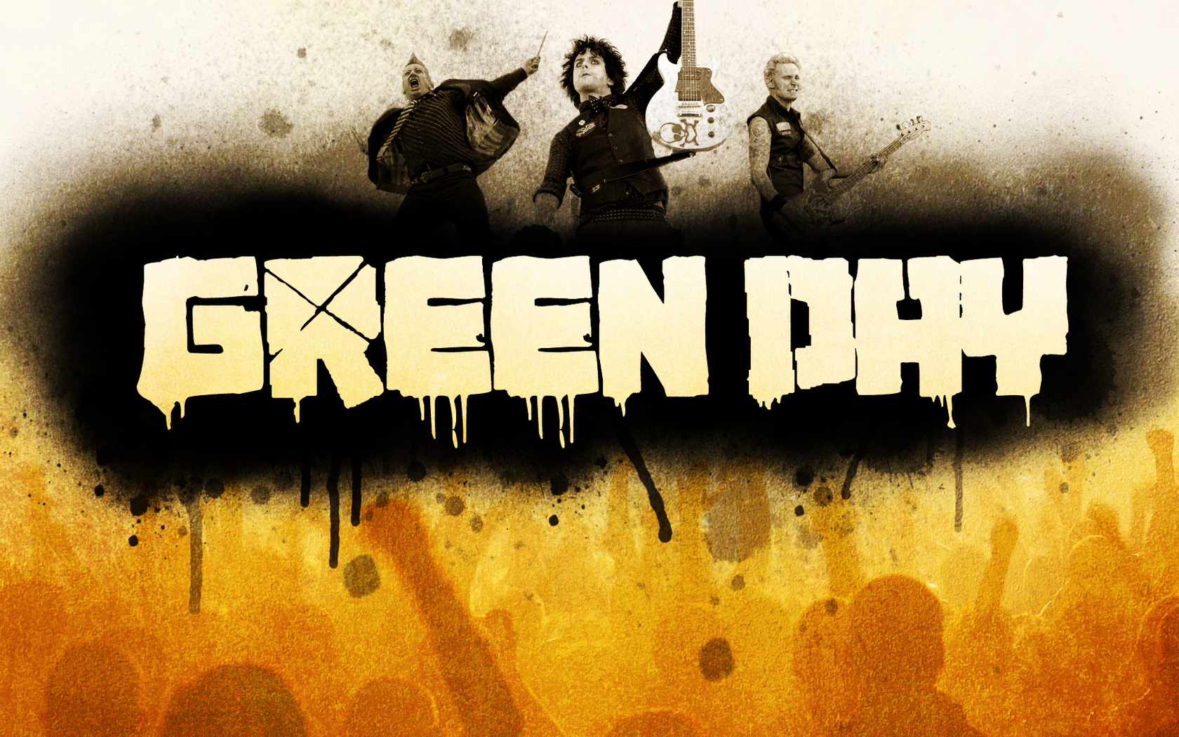 Green Day Rock Band Wallpapers - 1680x1050 - 1983677