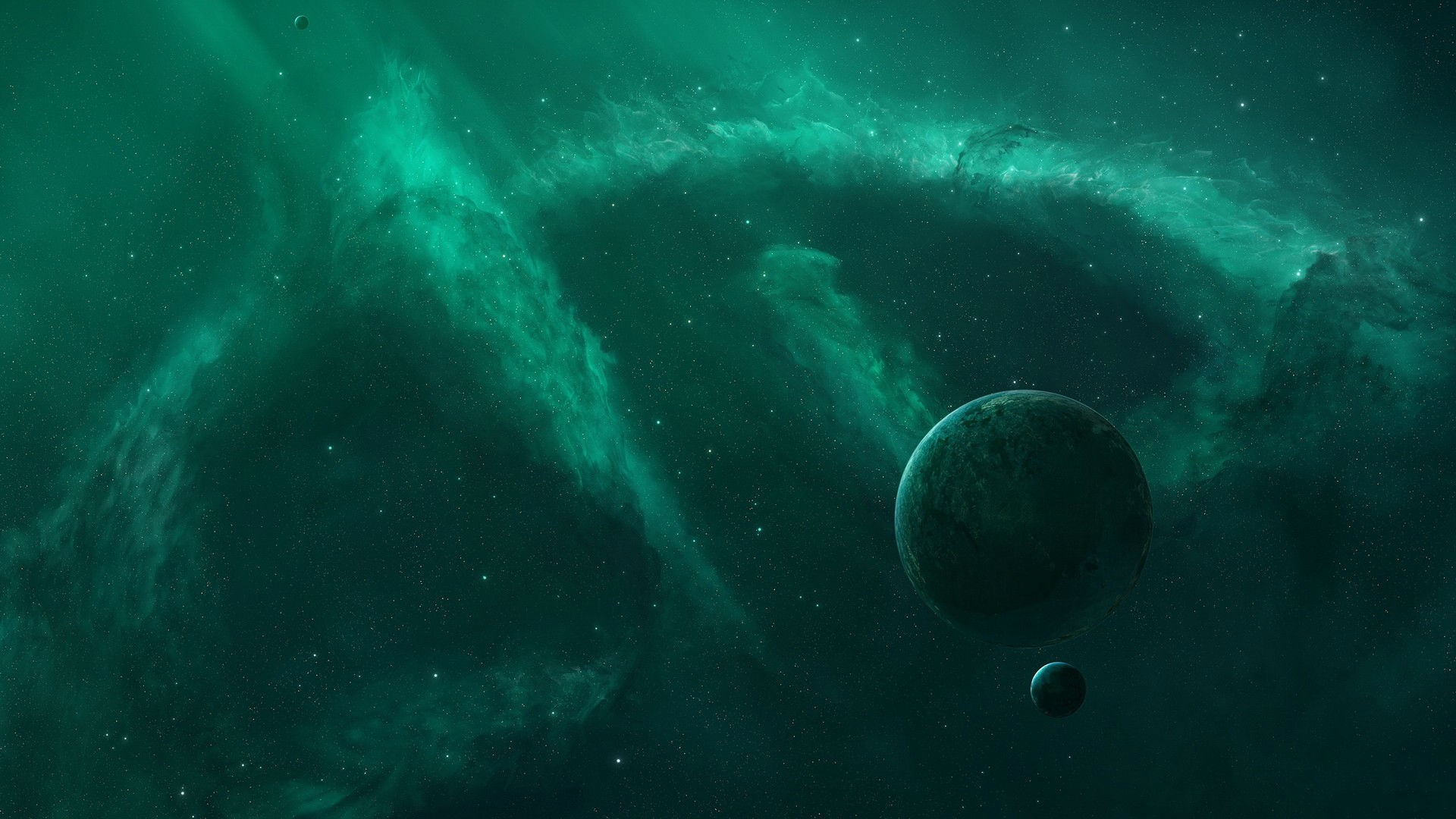 astronomy blue and green backgrounds - photo #14
