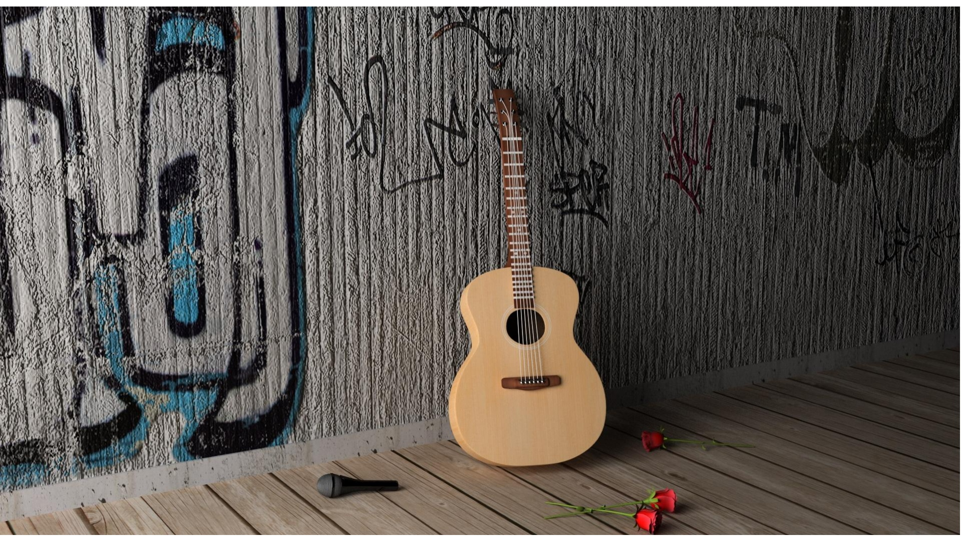 Guitar And Flower
