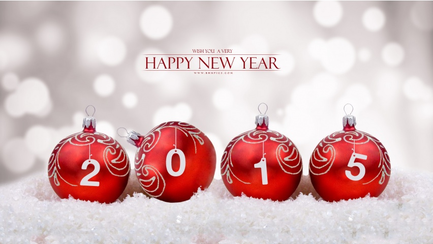 Happy New Year 2015 Wishes Wallpapers 852x480 114848