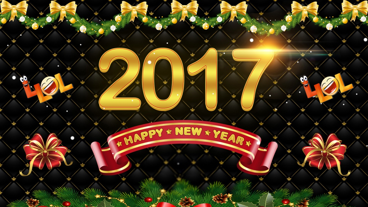 Happy New Year 2017 Wallpapers - 1280x720 - 436348