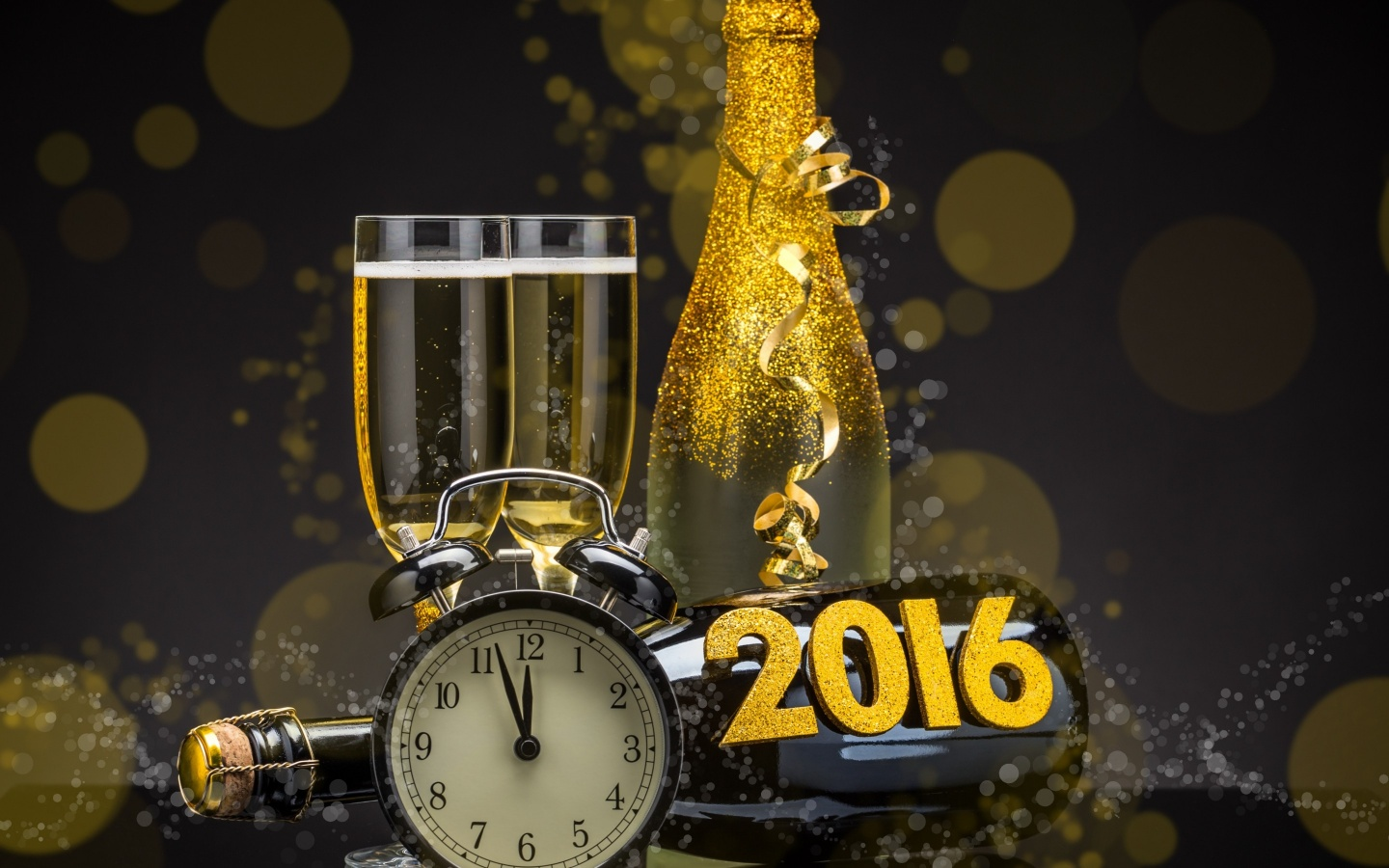Happy New Year Clock 2016