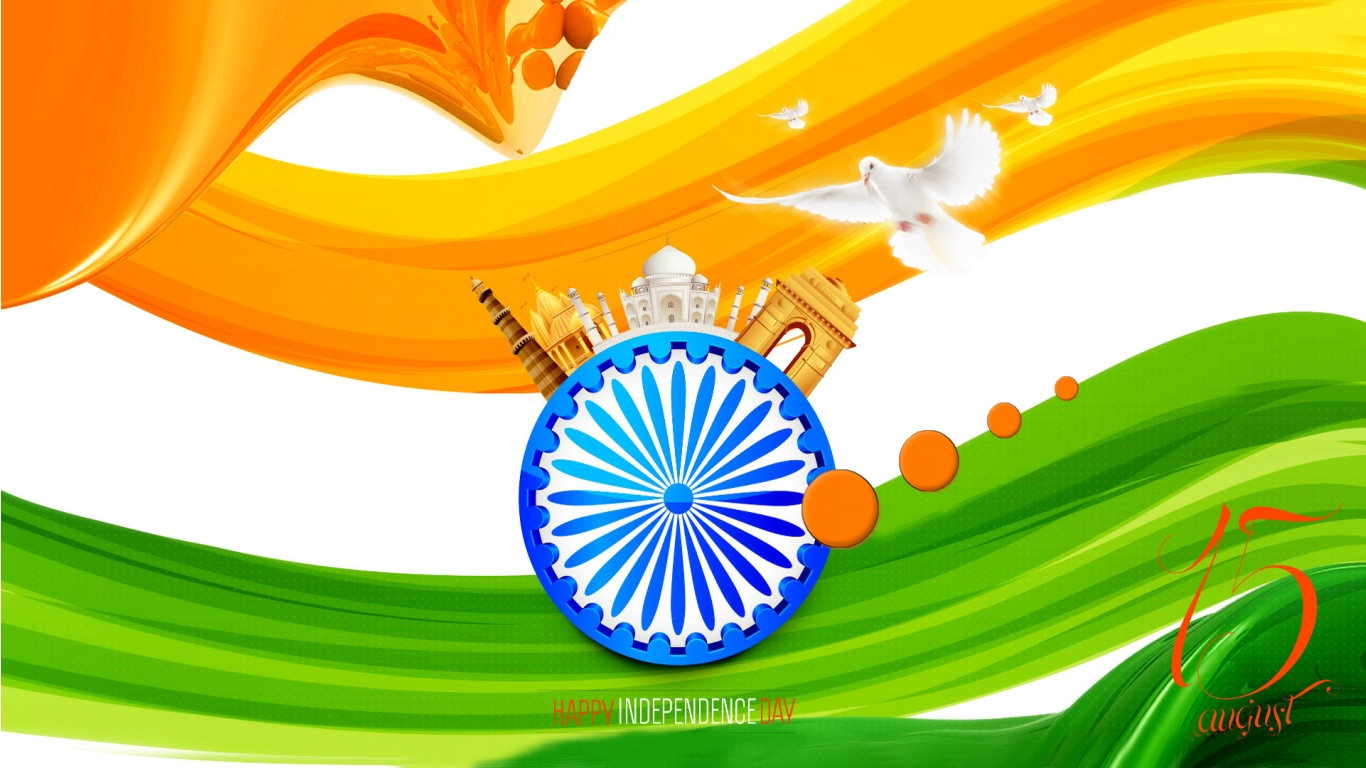 Indian Flag With Different Views: Indian Flag Independence Day Vande Mataram Wallpapers