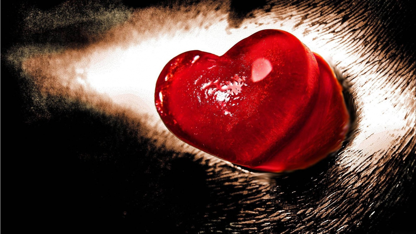 Just One More Red Heart For Lovers Wallpapers 1366x768