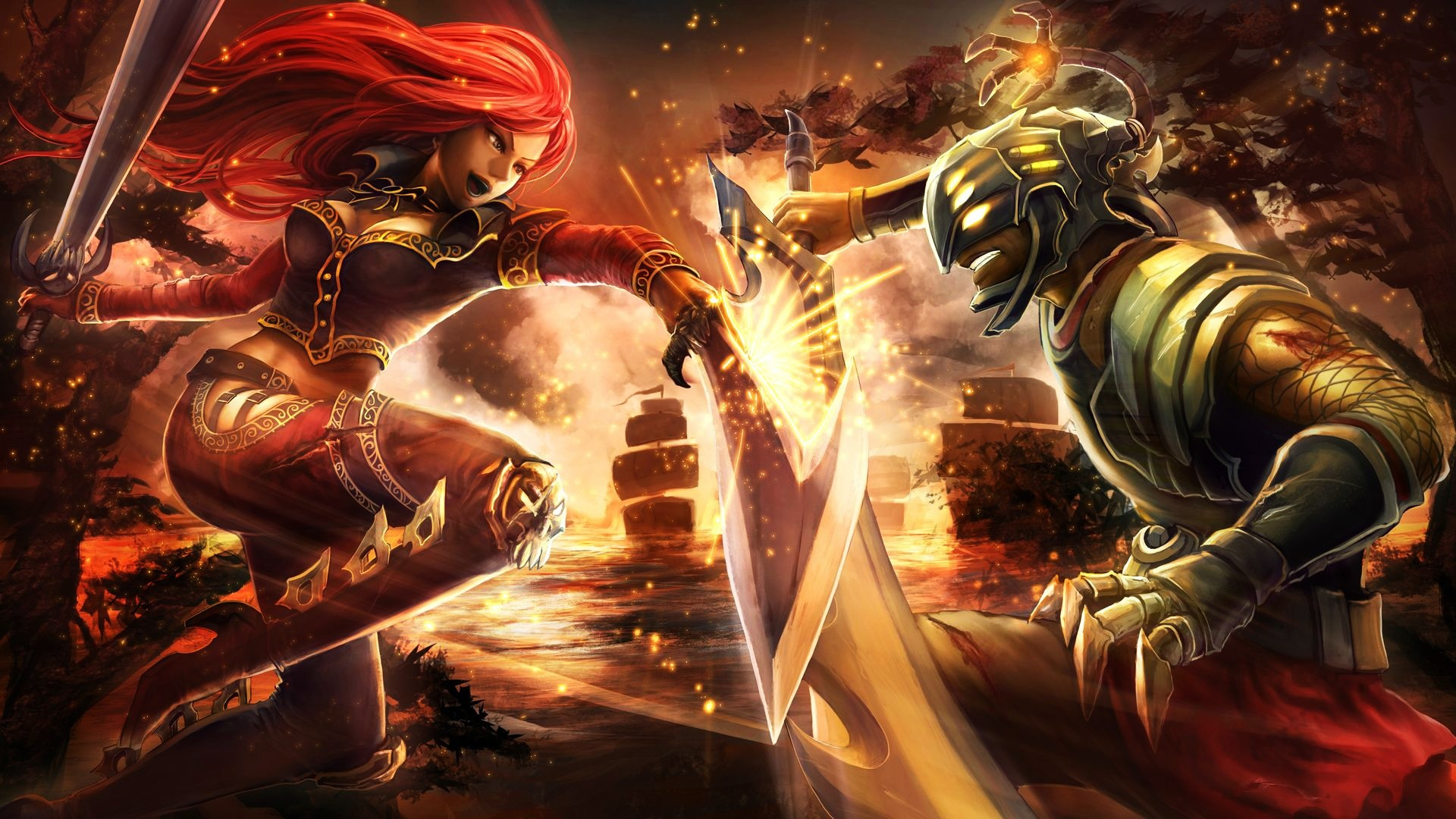 Katarina And Master Yi Sword Clash