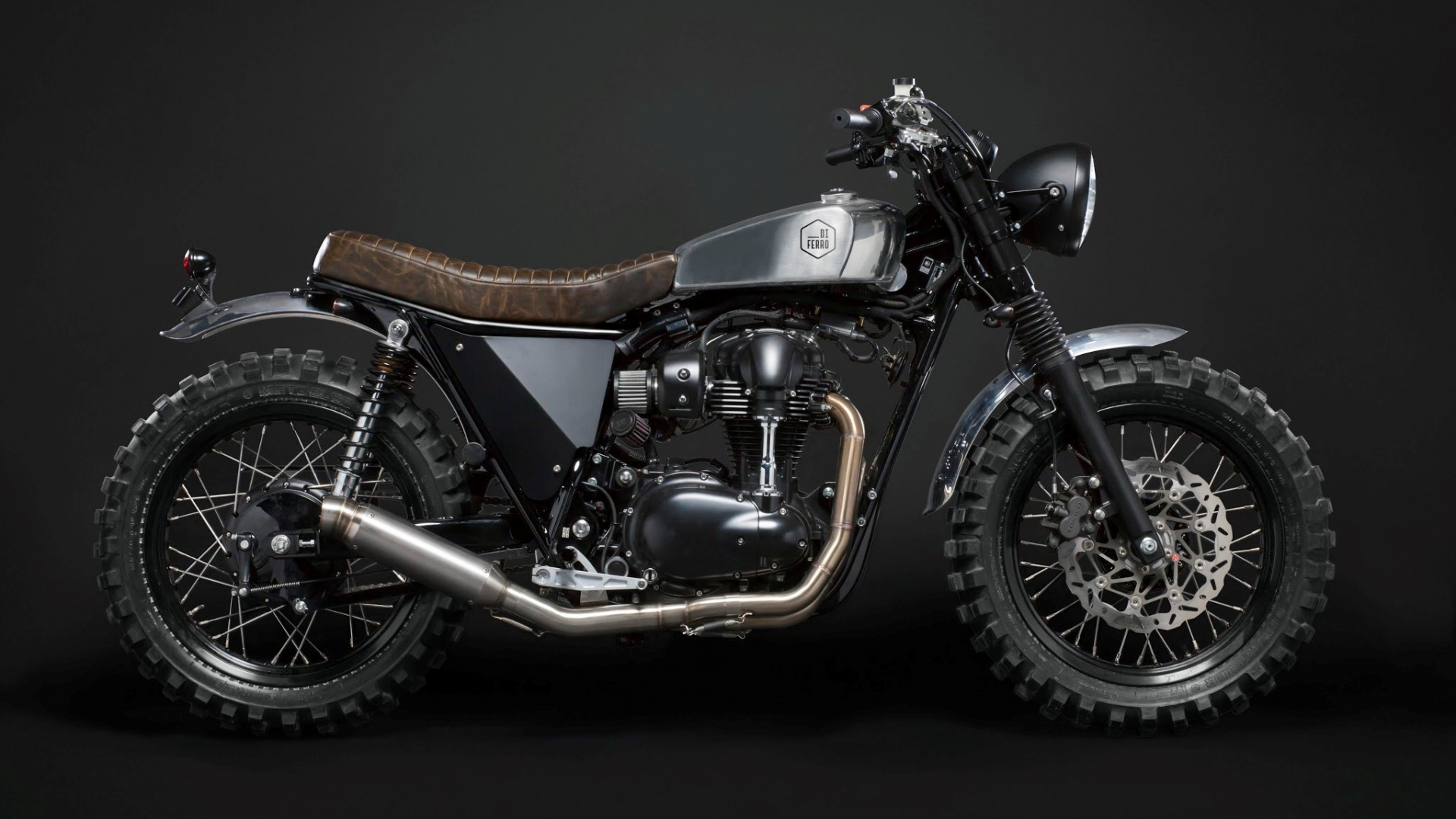 Kawasaki W800 Custom Scrambler Wallpapers