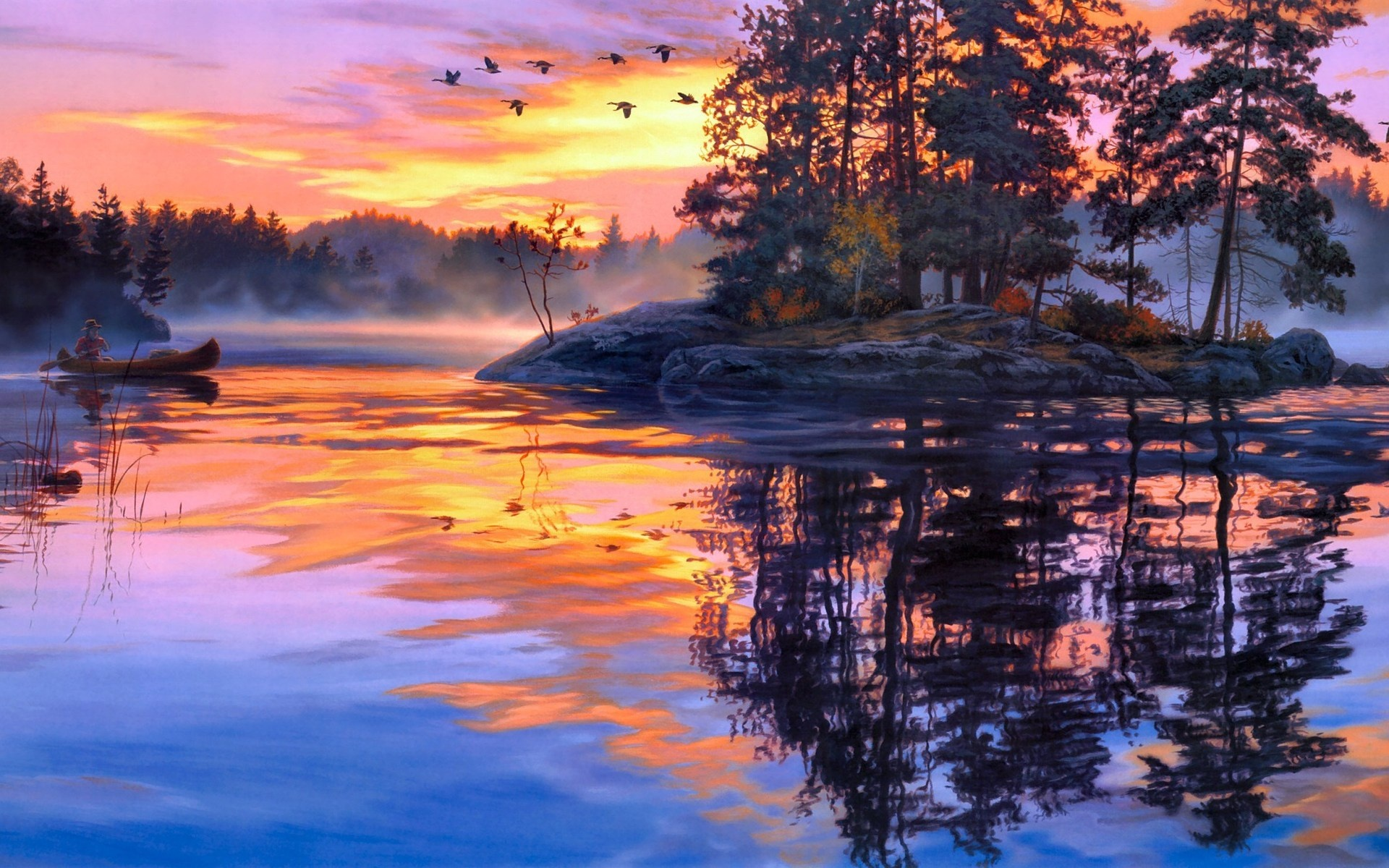 Landscape Scenery Painting  1920 x 1200  Download  Close