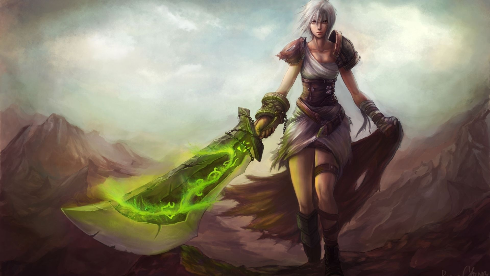 League of Legends Riven 1920X1080